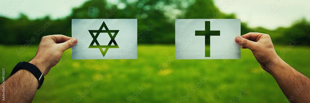 Fototapety, obrazy: Judaism vs Christianity