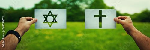 Fototapeta Judaism vs Christianity obraz