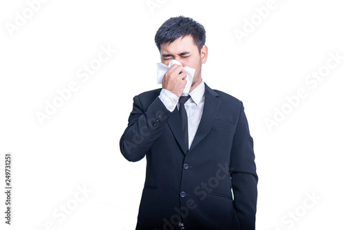 Valokuva  Businessman suffer from runny nose
