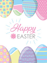 Happy Easter Eggs Decoration F...