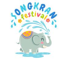 Emblem For Songkran Water Festival.