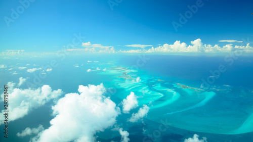 Scenic airview dream beaches, bahamas - 249759461