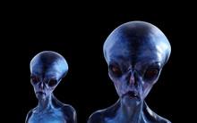 Illustration Of Two Blue Alien...