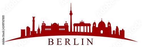 Obrazy Berlin  sylwetka-miasta-berlin-wektor