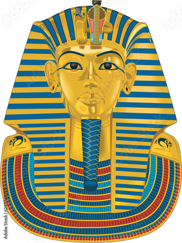 Fotografia Tutankhamen Vector Illustration