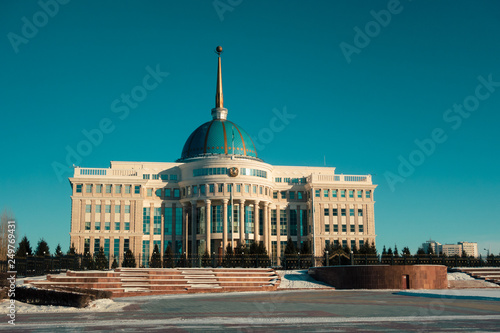 Valokuva  View on Ak Orda Presidential Palace in Astana, Kazakhstan
