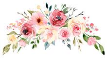 Watercolor Flowers, Floral Bou...
