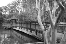 Bridge Walkway To Gazebo