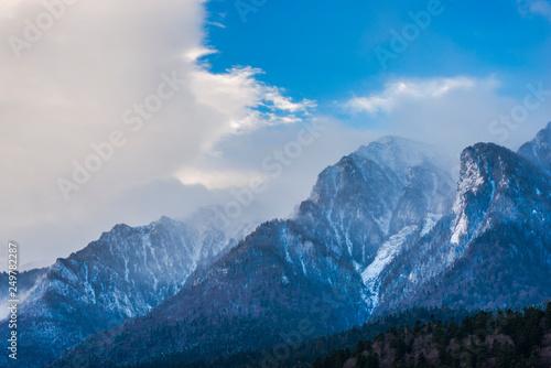Fototapeta Winter landscape in the mountains obraz na płótnie