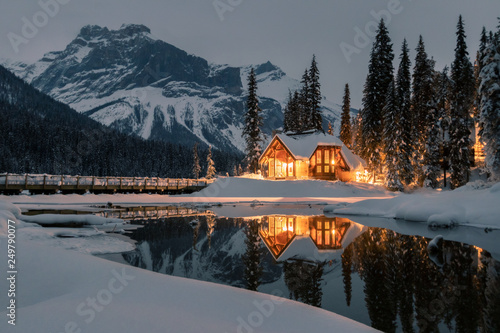 Emerald Lake Lodge is the only property on secluded Emerald Lake,surrounded by b Wallpaper Mural