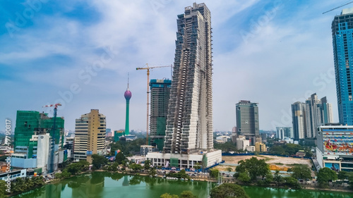 Photo Stands Kuala Lumpur Aerial. Colombo - commercial capital and largest city of Sri Lanka.