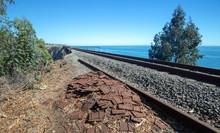 Railroad Tracks Over Bridge At...
