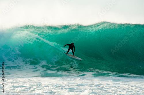 Surfer in the Ocean - Western Australia Canvas Print