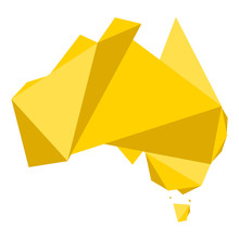 Geometric Map Of Australia. Vector Illustration Design
