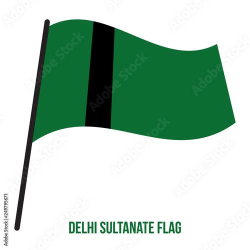 Fotografie, Obraz  Delhi Sultanate (1235-1554) Flag Waving Vector Illustration on White Background
