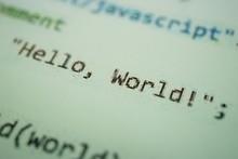 Digital Java Code Text. Comput...