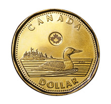 Canada's One Dollar Coin Features A Loon, A Common Waterfowl In Canada's Wilderness Areas.