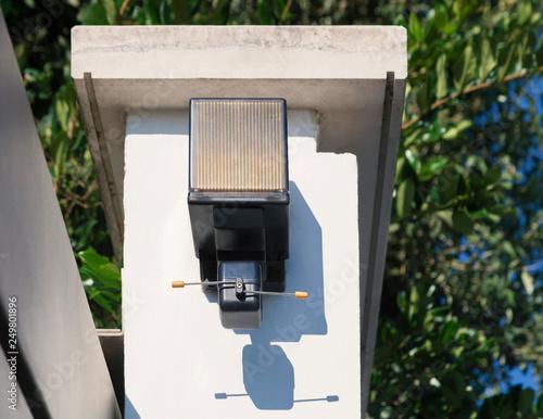 Fotografie, Obraz  Cancello di ingresso - particolare luce intermittente
