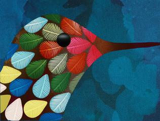 Fototapeta Ptaki Textura colibrí