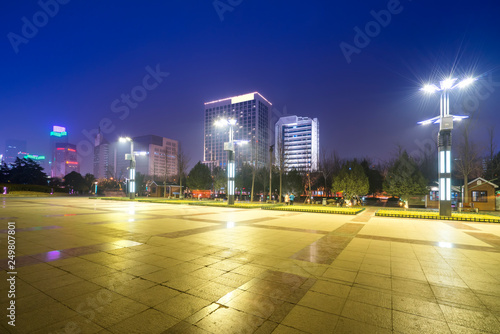 Foto  Beautiful Urban Nightscape Architectural Landscape in Jinan, Shandong Province