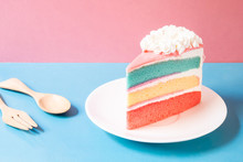 Layer Rainbow Cake