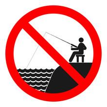 NO FISHING Sign. Vector.
