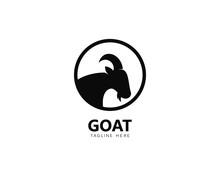 Goat Logo Template Vector Icon...