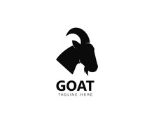 Goat Logo Template Vector Icon Illustration Design
