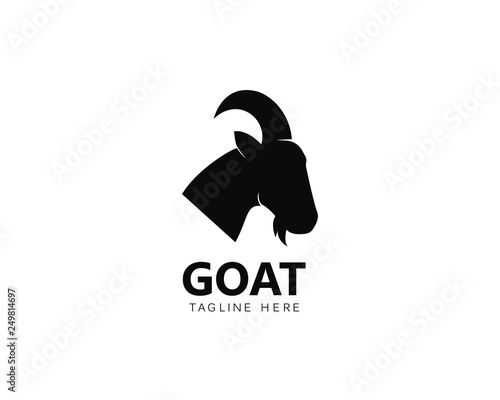 Leinwand Poster Goat Logo Template vector icon illustration design