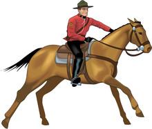 Mountie Vector Illustration