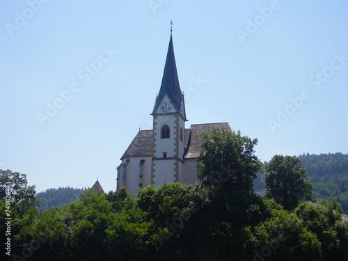Fotografie, Obraz  Chiesa nelle Alpi austriache