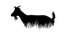 Illustration Of Goat Icon In T...