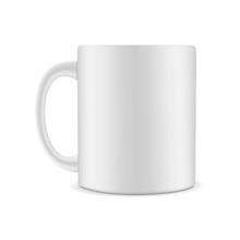 Mug Mock Up Isolated On White Background. Vector Illustration