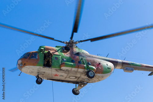 Tuinposter Helicopter Russian Mi-8 helicopter