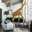Außergewöhnliche Giraffenwohnung mit großen Fensterflächen