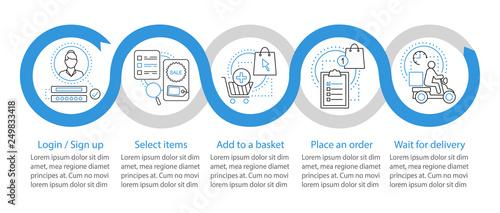 Obraz Online shopping vector infographic template - fototapety do salonu