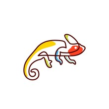 Chameleon Logo Vector Icon Illustration