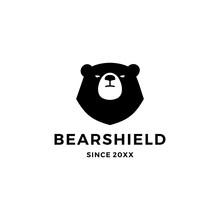 Bear Shield Logo Vector Icon I...
