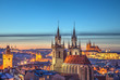 Prague panoramic view over historical center
