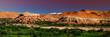 Ouarzazate, Marokko, Kashbah Ait Benhaddou mit Fluss Asif Mellah, Hoher Atlas, Panorama