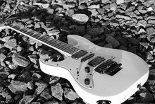 Black And White Electric Guita...