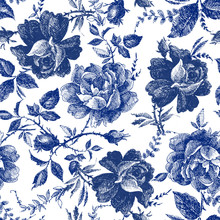 Seamless Design With Roses Flo...
