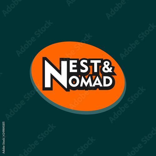 Nest & Nomad Logo Concept Wallpaper Mural
