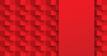 Red Abstract Background Vector With Blank Space For Text.