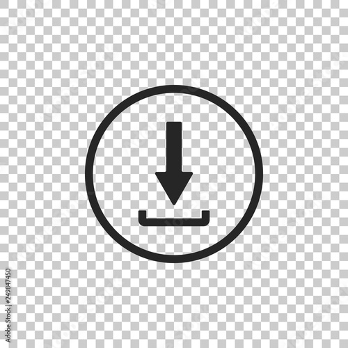 Fotografía  Download icon isolated on transparent background