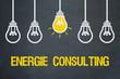 canvas print picture - Energie Consulting / Tafel mit Glühbirnen