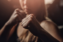 Young Female Boxer Preparing T...