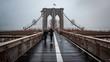 Rain on Brooklyn Bridge