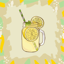 Lemonade In Mason Jar Mug With...