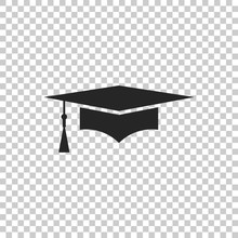 Graduation Cap Icon Isolated O...
